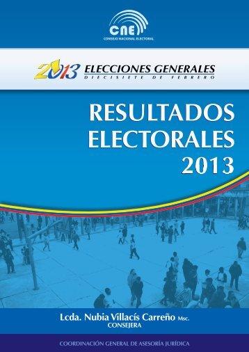 RESULTADOS ELECTORALES 2013