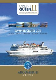 Fact Sheet - Abou Merhi Cruises