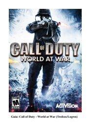 Guía: Call of Duty - World at War (Trofeos/Logros)