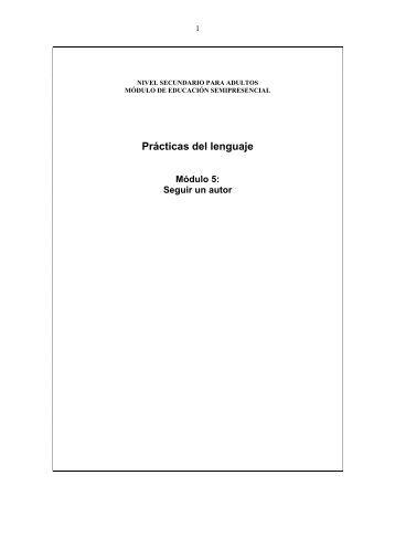 Prácticas del Lenguaje 5 - Dirección General de Cultura y Educación