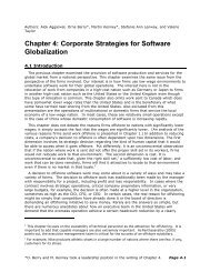 Chapter 4: Corporate Strategies for Software Globalization