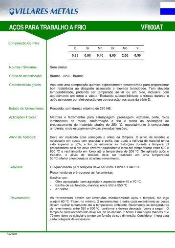 VF800AT - Villares Metals