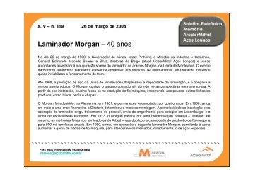 Boletim 119 - Laminador Morgan - 40 anos