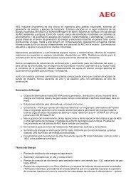 AEG Industrial Engineering Informacion General
