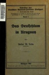 Das Deutschtum in Uruguay