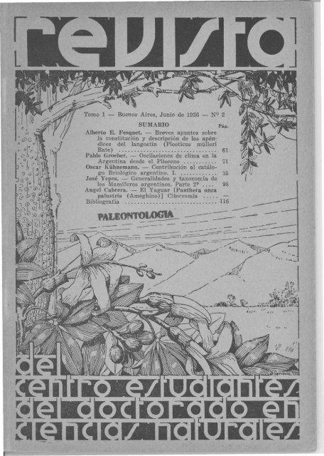 Biblioteca Digital | FCEN-UBA | Holmbergia Nº 2 Revista del Centro ...