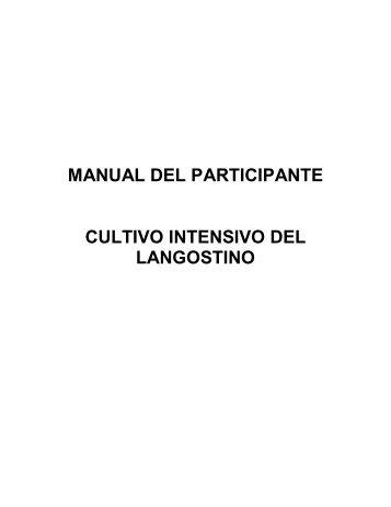 manual del participante cultivo intensivo del langostino - Inicio
