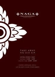Menu Naga - Naga.es