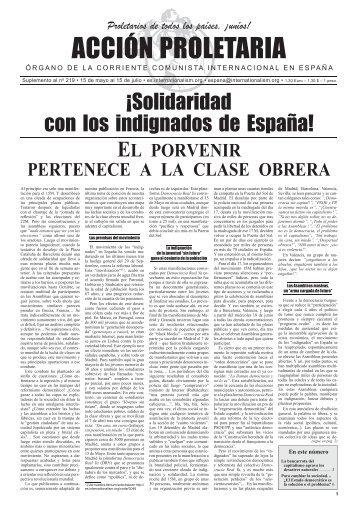 acción proleTaria - Corriente Comunista Internacional
