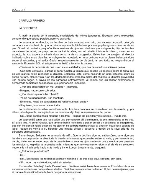 LOS SIETE LOCOS – ROBERTO ARLT