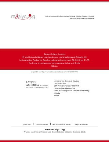 Los siete locos y Los lanzallamas de Roberto Arlt - RedALyC
