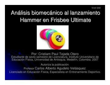 Análisis biomecánico al lanzamiento Hammer en Frisbee Ultimate