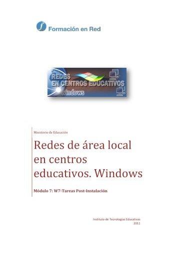 Redes de área local en centros educativos. Windows - Instituto ...