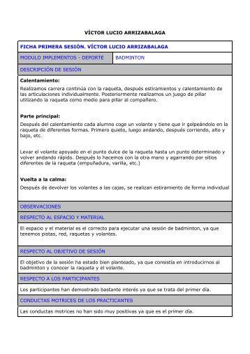 Fichas Badminton Victor Lucio Arrizabalaga.pdf - EducacionyAventura