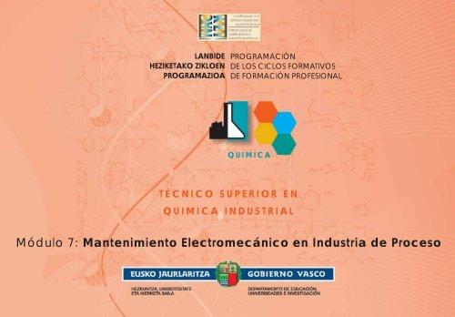 Módulo 7: Mantenimiento Electromecánico en Industria de Proceso
