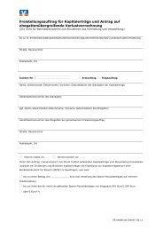 Freistellungsauftrag für Kapitalerträge und Antrag auf ...