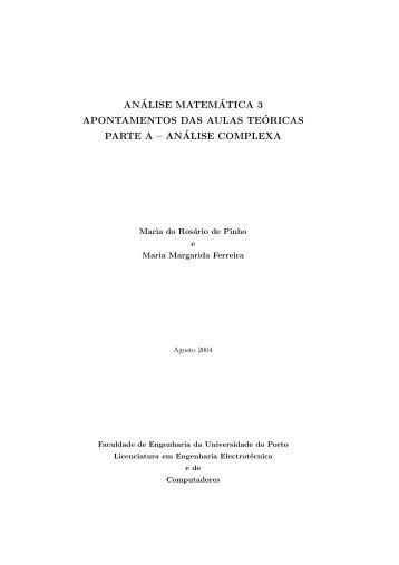 Análise complexa - Faculdade de Engenharia da Universidade do ...