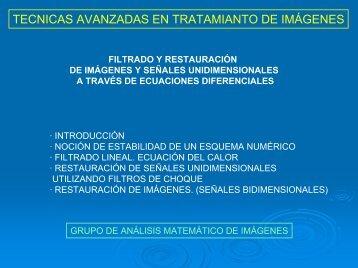 TECNICAS AVANZADAS EN TRATAMIANTO DE IMÁGENES