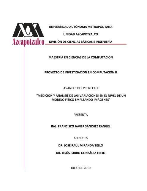 Informe Proyecto V7pdf Maestría En Ciencias De La