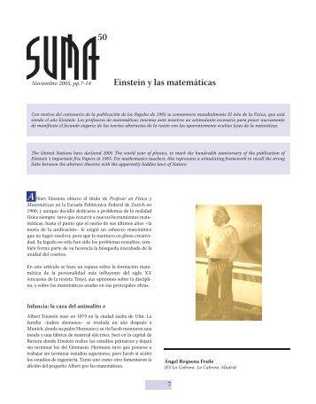 Einstein y las matemáticas 50 - SUMA Revistas de matemáticas