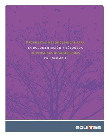 Propuestas metodológicas para la documentación y ... - Equitas