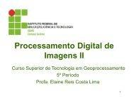 Processamento Digital de Imagens II - Geosenso