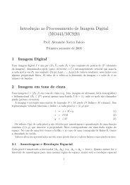 Introduç˜ao ao Processamento de Imagem Digital ... - Unicamp