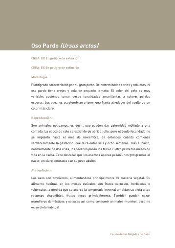 fichas pdf - Las Majadas de Caso