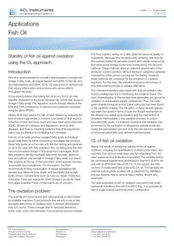 Lead mit 2 Sätzen in denen die Kernaussage des ... - ACL Instruments