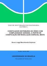 Codificador Distribuido de Video com Complexidade ... - IMAGE - UnB