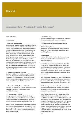Deutsches Reihenhaus baubeschreibung haus 81 deutsche reihenhaus ag