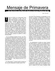 Mensaje de Primavera 1996 - VSA José Marcelli Noli