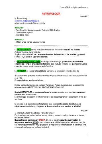 apuntes antropologia(farmacia).pdf - VeoApuntes.com