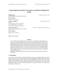 Graph Laplacians and their Convergence on Random - Journal of ...