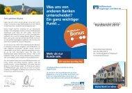 Kurzbericht 2010 - Raiffeisenbank Augsburger Land West eG