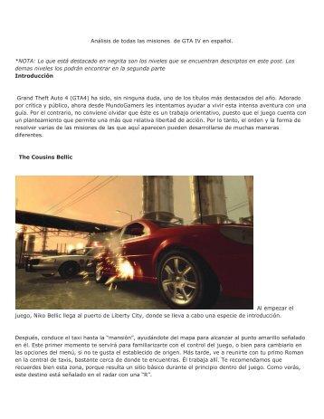 Descargar GTA IV parte 1 - Mundo Manuales