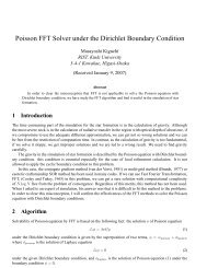 Poisson FFT Solver under the Dirichlet Boundary Condition