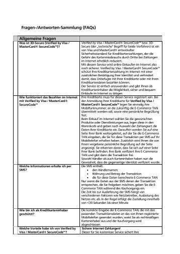 Fragen und Antworten - Volksbank Straubing