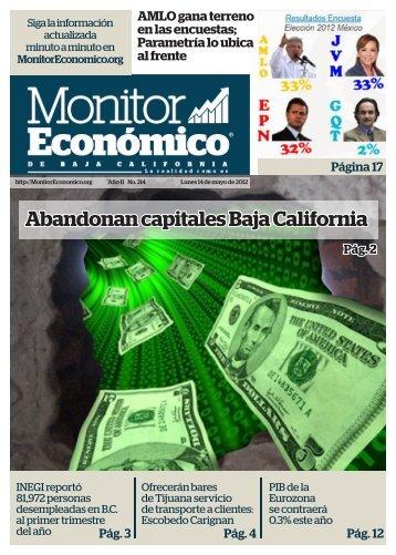 Abandonan capitales Baja California - Monitor Económico