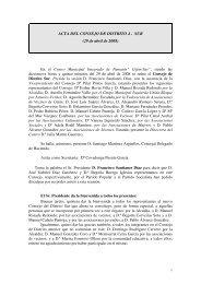 ACTA DEL CONSEJO DE DISTRITO 4 - SUR (29 de abril de 2008)