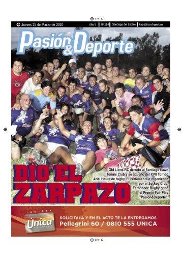 diario 119.indd - Pasión & Deporte