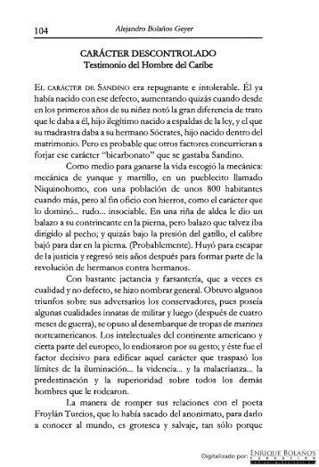 Libro - Sandino - Parte 3 - Biblioteca Enrique Bolaños