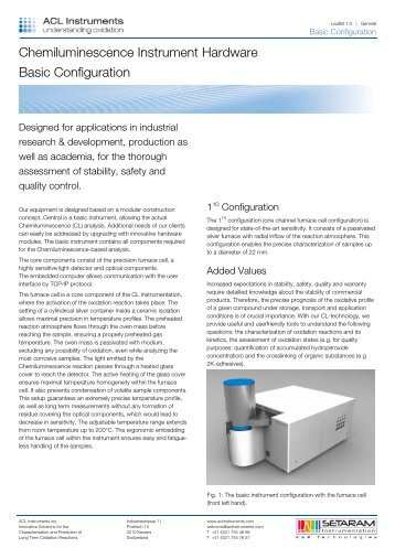 Chemiluminescence Instrument Hardware Basic ... - ACL Instruments