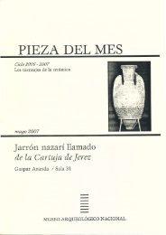 PIEZA DEL MES - Museo Arqueológico Nacional