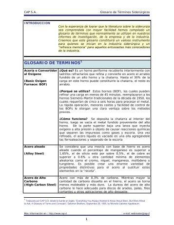 glosario de términos siderúrgicos - CAP