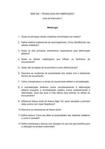Lista de Exercícios 1 - IEM