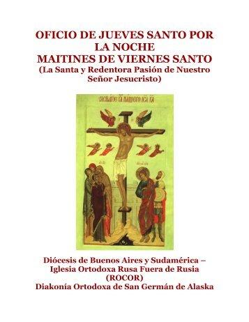 OFICIO DE JUEVES SANTO POR LA NOCHE MAITINES DE ...