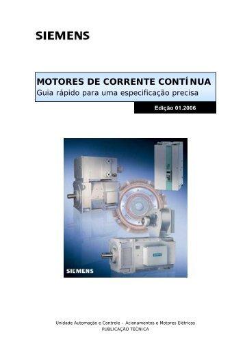 MOTORES DE CORRENTE CONTÍNUA - Siemens Brasil