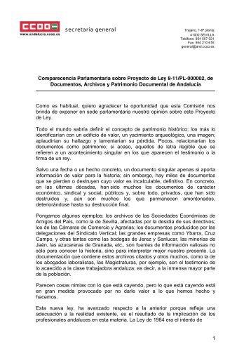 Comparecencia Parlamentaria Ley Documentos, Archivos