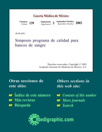 Programa de calidad para bancos de sangre - edigraphic.com